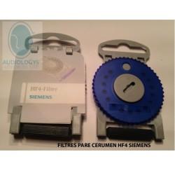 Pare cerumen Siemens hf 4 filtre bleu gauche