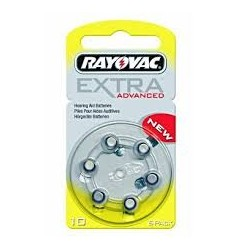 Plaquette 6 piles 10 RAYOVAC Ultra étiquette jaune