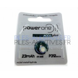 Power one accu plus p312 accu rechargeable 23mah
